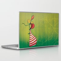 ballon Laptop & iPad Skins featuring Ballon Man by Gokce Gurellier