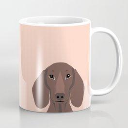 Remy - Daschund hipster dog, doxie, weiner dog, wiener dog,  Coffee Mug
