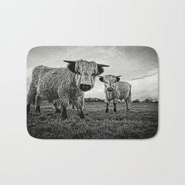 Two Shaggy Cows Bath Mat