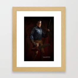 """""""I'm going to shove this right up some deadites ass! Hyah!"""" Framed Art Print"""