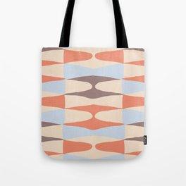 Zaha Blue Retro Tote Bag
