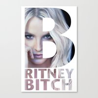 britney Canvas Prints featuring Britney Bxxch by eriicms