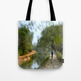 Epic Shot Cycling The Canal Route In Kerala, India Tote Bag