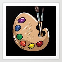 Artist Painter Brush Art Print