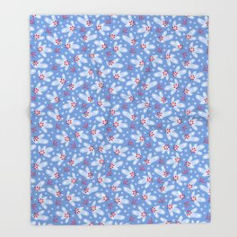 Cute Merry Christmas and Happy New year seamless pattern. Throw Blanket