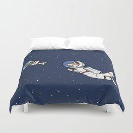 Otternaut in Otter Space Duvet Cover