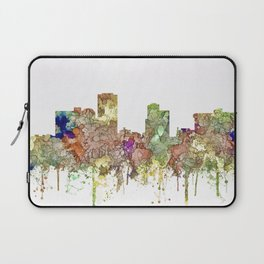 Little Rock, Arkansas Skyline - Faded Glory Laptop Sleeve