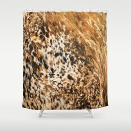 Rustic Country Western Texas Longhorn Cowhide Rodeo Animal Print Shower Curtain