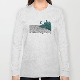 Ocean and Mountains Long Sleeve T-shirt