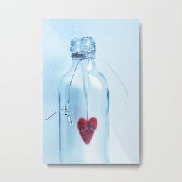 Heart with key Metal Print