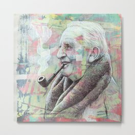 JRR Tolkien - One Author To Rule Them All Metal Print