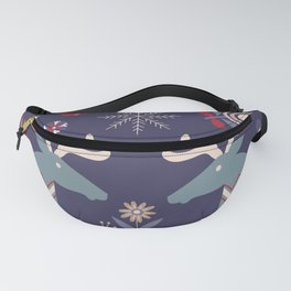 REINDEER AND FLOWERS Fanny Pack