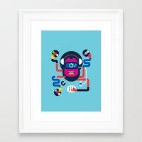 dj Framed Art Prints featuring DJ by Katboy 7