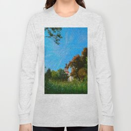 lokking towards a church Long Sleeve T-shirt