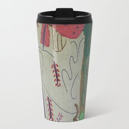 Bird on textures and patterns Travel Mug