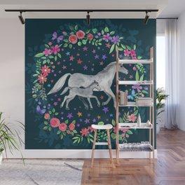 Mama and Baby Unicorn Wall Mural