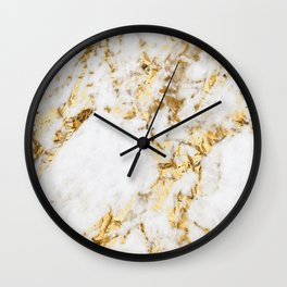 Luxe bright golden Wall Clock