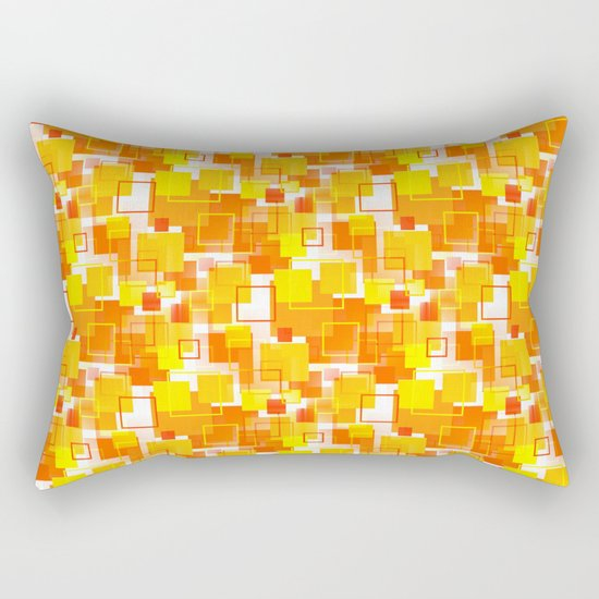 Mid Century Lumbar Pillow : Mid-Century Modern - Orange Rectangular Pillow by Mellowcat Society6