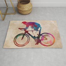 Cycling Bike sport art #cycling #sport Rug