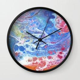Fluid painting 15. Wall Clock