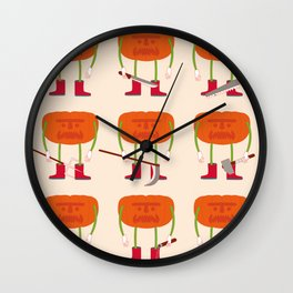 killer pumpkin Wall Clock