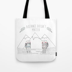 distance cat Tote Bag