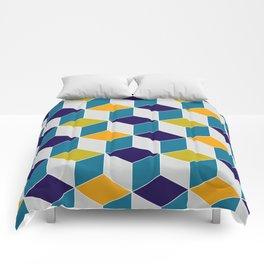 Cube Geometric III Comforters