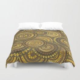 Circular Ethnic  pattern pastel gold Duvet Cover