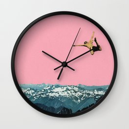 Higher Than Mountains Wall Clock