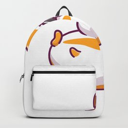Cute Hamster Eating Icon Illustration Hamster Mascot Cartoon Character Animal Icon Concept Isolated Backpack