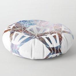 Metatron's Cube Time Wheel ~ Orion Floor Pillow