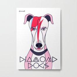 Diamonds Dogs Metal Print