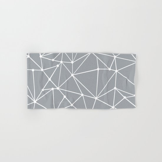 Ab Out Spots Grey Hand & Bath Towel