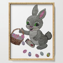 The Clumsy Easter Bunny Serving Tray