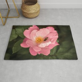 A rose and the fly insect Rug