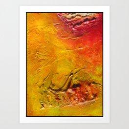burnt earth Art Print
