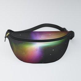 rainboW Space Boomerang Nebula Fanny Pack