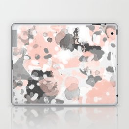 grey and millennial pink abstract painting trendy canvas art decor minimalist Laptop & iPad Skin