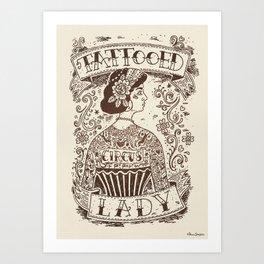 Tattooed Lady #05 Art Print
