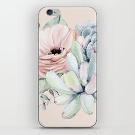 Elegant Blush Pink Succulent Garden by Nature Magick iPhone Skin
