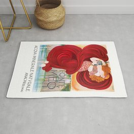 1910 Italian Mineral Spring Water Advertising Poster Rug