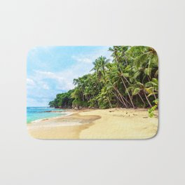 Tropical Beach - Landscape Nature Photography Bath Mat