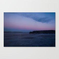 Siberian Ice Lake Canvas Print