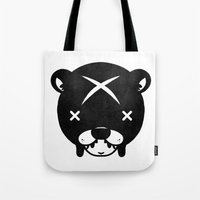 suit Tote Bags featuring Bear Suit by Terry Mack