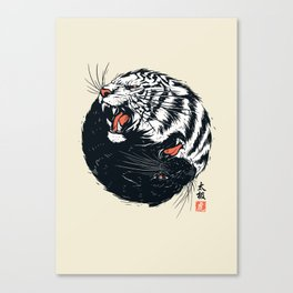 Taichi Tiger Canvas Print