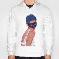 rebel Hoodies featuring Rebel by Ela Designs