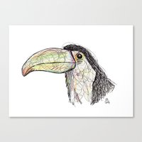 toucan Canvas Prints featuring Toucan by Ursula Rodgers