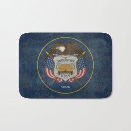 Utah State Flag, vintage retro style Bath Mat