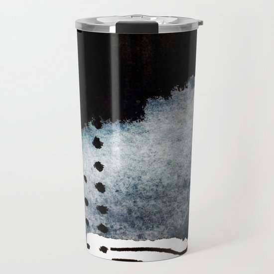 Closer - a black, blue, and white abstract piece by blushingbrushstudio