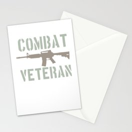 Combat Veteran Gift For Patriotic Soldier Stationery Cards